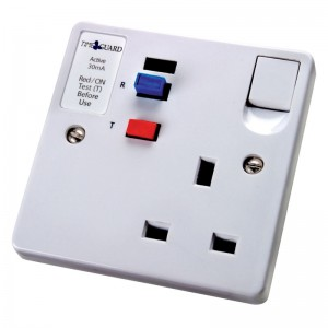 Single Indoor Socket with RCD Protection