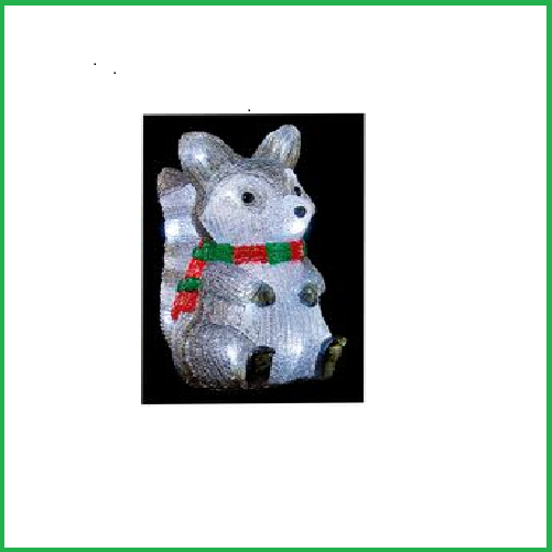 Christmas 25cm Acrylic Raccoon - 20LED & Timer