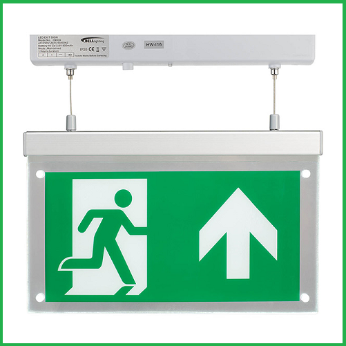 Suspended LED Exit Sign